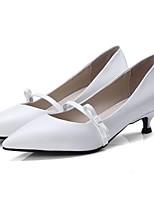 Недорогие -Жен. Обувь Наппа Leather Весна Удобная обувь Обувь на каблуках На шпильке Белый / Черный / Серый