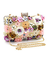 cheap -Women's Bags Polyester Evening Bag Pearls / Flower Gold