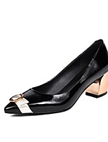 cheap -Women's Shoes Nappa Leather Spring & Summer Comfort Heels Chunky Heel Black / Brown