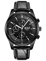 cheap -BOSCK Men's Wrist Watch Chinese Water Resistant / Water Proof / New Design / Noctilucent Leather Band Luxury / Fashion Black