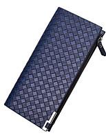 cheap -Men's Bags PU(Polyurethane) Wallet Zipper Blue