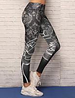baratos -Mulheres Calças de Yoga - Preto Esportes Elastano Meia-calça / Leggings Corrida, Fitness Roupas Esportivas Respirabilidade, Compressão, Confortável Com Stretch