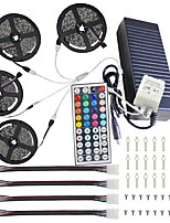 cheap -KWB 4x5M Light Sets / RGB Strip Lights / Remote Controls 600 LEDs 5050 SMD 1 44Keys Remote Controller / 1x 1 To 4 Cable Connector / 1Set Mounting Bracket RGB Decorative / Linkable / Color Gradient