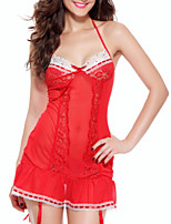 cheap -Women's Sexy Satin & Silk Nightwear - Lace, Solid Colored