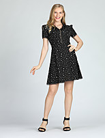 cheap -Suzanne Betro Women's A Line / Chiffon Dress - Polka Dot Lace