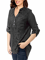cheap -women's going out shirt - solid colored stand