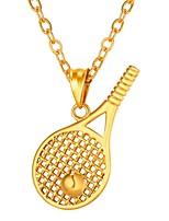 Недорогие -Муж. Ожерелья с подвесками - Нержавеющая сталь Креатив модный, Мода Золотой, Серебряный 55 cm Ожерелье Бижутерия 1шт Назначение Подарок, Повседневные