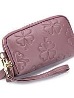 cheap -Women's Bags Cowhide Wristlet Zipper Gray / Purple / Wine