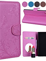 economico -Custodia Per Sony Xperia XA1 Ultra Porta-carte di credito / Con chiusura magnetica / Fantasia / disegno Integrale Tinta unita / Farfalla Resistente pelle sintetica per Sony Xperia XA1 Ultra / Sony