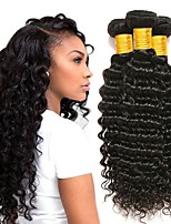 cheap -3 Bundles Indian Hair Deep Wave Unprocessed Human Hair / Human Hair Gifts / Cosplay Suits / Natural Color Hair Weaves 8-28 inch Human Hair Weaves Creative / Hot Sale / Thick Natural Color Human Hair