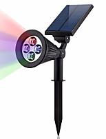Недорогие -1шт 2 W LED прожекторы / Свет газонные Работает от солнечной энергии / Водонепроницаемый / Декоративная Тёплый белый / Холодный белый 3.7 V Уличное освещение / двор / Сад