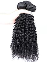 Недорогие -3 Связки Бразильские волосы Kinky Curly Натуральные волосы One Pack Solution / Плетение 10-28 дюймовый Ткет человеческих волос Расширения человеческих волос Все