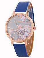 baratos -Mulheres Relógio de Pulso Chinês Relógio Casual / Adorável PU Banda Flor / Fashion Preta / Branco / Azul
