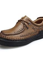 Недорогие -Муж. Наппа Leather Зима Удобная обувь Туфли на шнуровке Черный / Темно-коричневый / Хаки