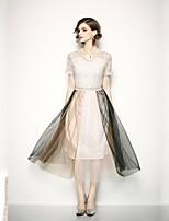 Недорогие -Жен. Классический / Элегантный стиль Оболочка Платье Кружева Средней длины
