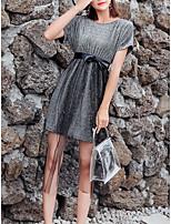 abordables -Mujer Básico Conjunto - Un Color Falda
