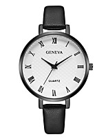 cheap -Geneva Women's Wrist Watch Quartz New Design Casual Watch Cool Leather Band Analog Casual Fashion Black / Brown / Purple - Black / Brown Brown Black / White One Year Battery Life
