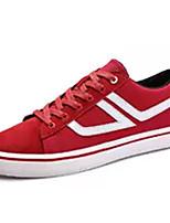 Недорогие -Муж. Полиуретан Весна Удобная обувь Кеды Черный / Серый / Красный