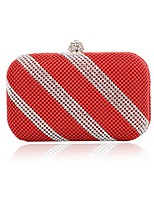 cheap -Women's Bags PU(Polyurethane) / Alloy Evening Bag Beading Red / Yellow / Silver