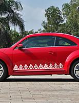 abordables -Blanc Autocollant pour auto Dessin Animé Autocollants de porte Animal Autocollants