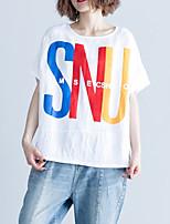 cheap -Women's Basic T-shirt - Letter Print