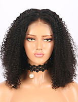 cheap -Remy Human Hair Lace Front Wig Brazilian Hair Jerry Curl Wig Bob Haircut 130% With Baby Hair / Natural Hairline / African American Wig Natural Women's Short Human Hair Lace Wig