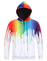 cheap -Men's Basic Hoodie - Geometric, Print