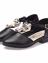 Недорогие -Девочки Обувь Полиуретан Весна & осень Детская праздничная обувь / Крошечные Каблуки для подростков Обувь на каблуках для Золотой / Черный