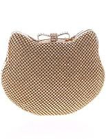 cheap -Women's Bags Polyester Evening Bag Bow(s) / Crystals Gold / Silver
