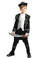 cheap -Pirate Costume Boys' Halloween / Carnival / Children's Day Festival / Holiday Halloween Costumes Black Solid Colored / Halloween Halloween