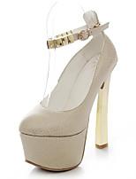 Недорогие -Жен. Обувь Полиуретан Весна Удобная обувь Обувь на каблуках На шпильке Белый / Желтый / Синий