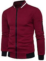 cheap -Men's Long Sleeve Sweatshirt - Color Block Stand