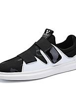 Недорогие -Муж. Сетка Наступила зима Удобная обувь Кеды Контрастных цветов Черный / Черно-белый