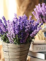 baratos -Flores artificiais 1 Ramo Clássico Estilo simples / Pastoril Estilo Lavanda Flor de Mesa