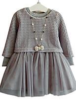 cheap -Kids Girls' Color Block Sleeveless / Long Sleeve Dress
