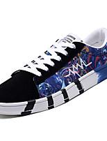 Недорогие -Муж. Полиуретан Осень Удобная обувь Кеды Контрастных цветов Черный / Зеленый / Синий