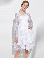 cheap -SHIHUATANG Women's Vintage / Sophisticated A Line Dress - Solid Colored Lace / Beaded