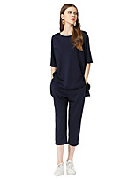 cheap -Women's Slim Polo - Solid Colored Pant