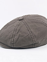 cheap -Men's Vintage / Work Beret Hat - Solid Colored