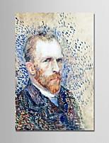 economico -Hang-Dipinto ad olio Dipinta a mano - Riproduzione / Ritratti Modern Tela