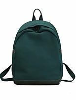 Недорогие -Жен. Мешки холст рюкзак Молнии Розовый / Серый / Военно-зеленный