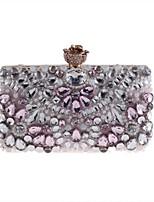 cheap -Women's Bags Nylon Evening Bag Crystals Blushing Pink