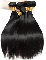 abordables -Cheveux Brésiliens Droit Tissages de cheveux humains / Extension 6 offres groupées 8-28 pouce Tissages de cheveux humains Fabriqué à la machine Grosses soldes / 100% vierge Noir Naturel Extensions de