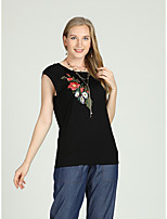 cheap -Women's Vintage / Chinoiserie Tank Top - Solid Colored Embroidered