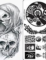 cheap -10 pcs Artificial Nail Tips Nail Art Kit Nail Stamping Tool Template Creative / Multi-Type nail art Manicure Pedicure Punk / Hip-Hop