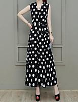 cheap -Women's Street chic / Sophisticated Jumpsuit - Polka Dot, Mesh