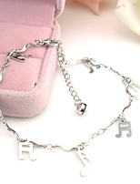 cheap -Classic Stylish Ankle Bracelet - Creative, Music Notes Classic, Vintage, Fashion Silver For Daily Going out Women's