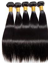 Недорогие -6 Связок Индийские волосы Прямой Натуральные волосы Подарки / Человека ткет Волосы / Сувениры для чаепития 8-28 дюймовый Естественный цвет Ткет человеческих волос