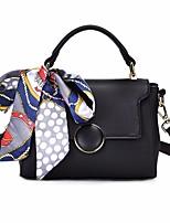 cheap -Women's Bags PU(Polyurethane) Tote Buttons Black / Coffee / Brown
