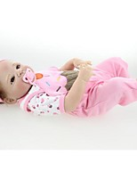 cheap -NPKCOLLECTION Reborn Doll Baby Girl 24 inch Full Body Silicone / Vinyl - lifelike, Artificial Implantation Brown Eyes Kid's Girls' Gift
